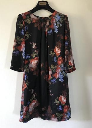 Hallhuber шелковое платье в стиле dolce&gabbana