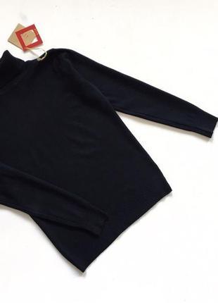 Новый стильный гольф натуральная ткань цвет черный размер s-m