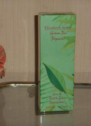 Elizabeth arden green tea tropical - туалетная вода оригинал франция
