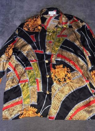 100% шелк винтажная шелковая блузка brillante