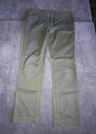 Хлопковые унисекс брюки uniqlo