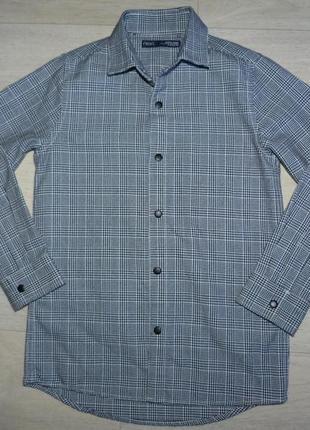Плотная рубашка next по бирке 5 лет, будет на 6