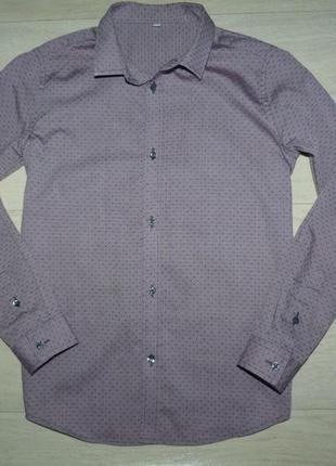 Красивая рубашка m&s 10-11 лет
