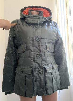 Демисезонная водонепроницаемая куртка с капюшоном и накладными карманами vigoss сша