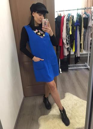 Платье сарафан topshop m
