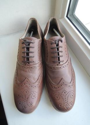 Кожаные туфли лоферы holland р.41
