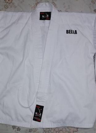 Кимоно m.а.r для боевых искусств тхэквондо, каратэ, дзюдо, айкидо, рост 130см