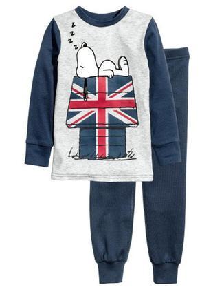 Стильная пижама snoopy h&m на рост 98-104 см