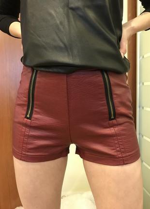 Кожаные шорты new look кожанці шорти шортики