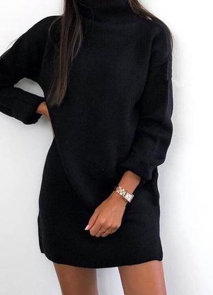 Новое чёрное платье свитер