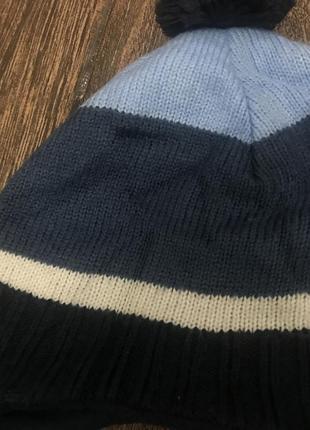 Фирменная шапка теплая h&m 6-8 лет