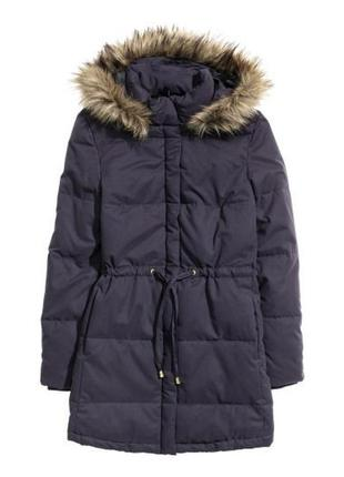 Стильная курточка синего цвета на синтепоне h&m