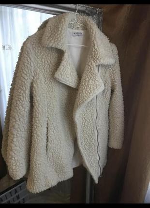 Пальто косуха овечка шуба шубка полушубок дубленка дубльонка