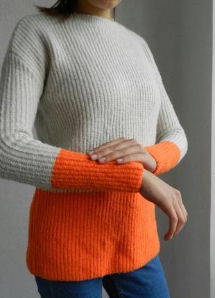 Двухцветный теплющий свитер от primark