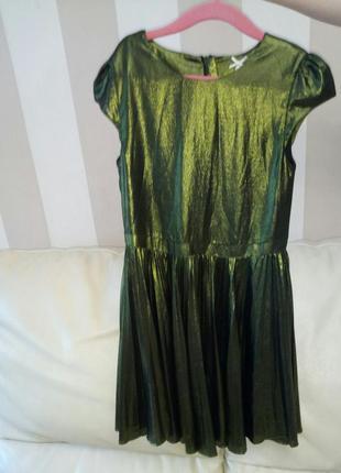 Нарядное платье плиссе next 8 лет