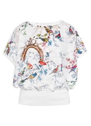 Ted baker блуза с птичками