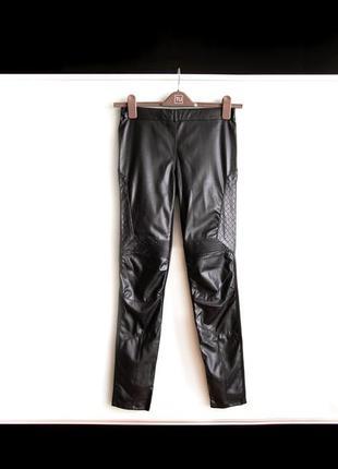 Лосины штаны под кожу черного цвета