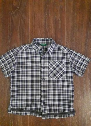 Летняя рубашка для мальчика united colors of benetton