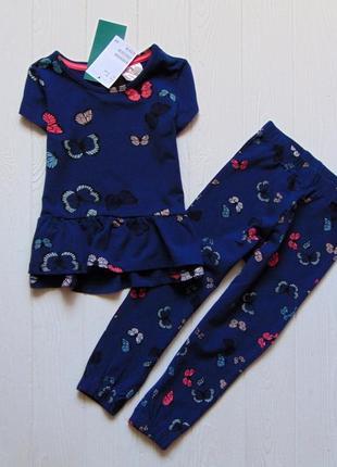H&m. размер 1.5-2 года. новый стильный комплект для девочки