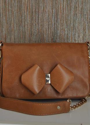 Кожаная сумка кроссбоди  ted baker / шкіряна сумка