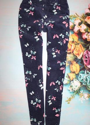 Шикарные брюки микровильвет h&m 9-10лет