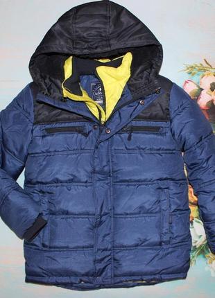 Крутая теплая куртка на мальчика  george 9-10лет