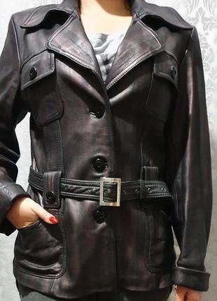 Куртка жакет кожаная