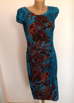 Шикарное трикотажное платье в состоянии нового. /m- l/ brend marks &spencer