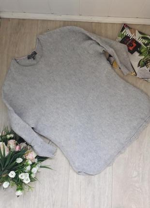 Vip теплый серый свитер размер с 100% кашемир laura ashley