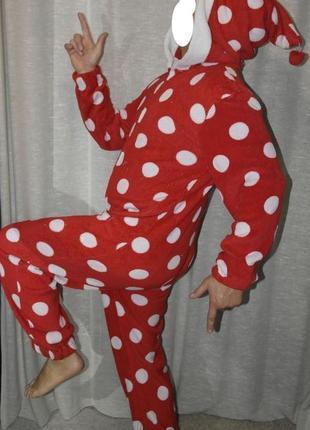 Boohoo кигуруми горох мухомор слип карнавал пижама домашний костюм