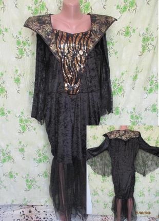 Супер платье на хэллоуин/ведьма/летучая мышь/батал uk 20-22/наш 54-56 halloween