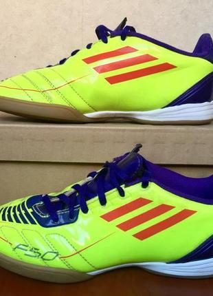 Оригинальные футзалки адидас f50,футбольная детская обувь для зала