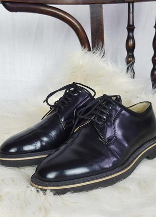 Кожанные туфли navyboot лакированные dr.martens