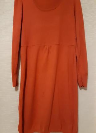 Замечательное теплое платье  яркого сочного цвета, размер44-46