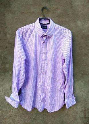 Брендовая рубашка под запонки aquascutum оригинальная
