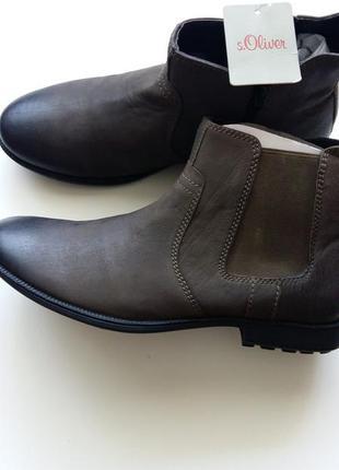 Стильные кожаные мужские ботинки челси s.oliver
