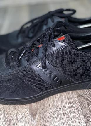 Кожаные кроссовки prada размер 45