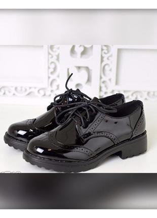 Лаковые туфли - оксфорды