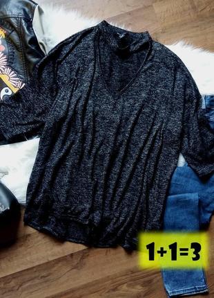 New look стильный пуловер l-xxl чокер v-вырез реглан джемпер туника свитер свободный тренд