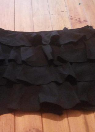 Чёрная мини юбка tally weijl l