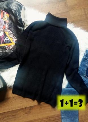 Tu базовый фактурный гольф s-m пуловер реглан джемпер свитер водолазка лонгслив осень