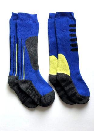 Комплект 2 пары. детские лыжные коттоновые высокие носки. нидерланды. 23-26.