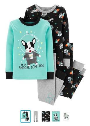Новые пижамки хб carters для мальчика 4т