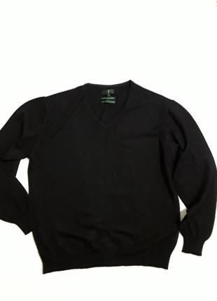 Фирменный шерстяной пуловер джемпер кофточка
