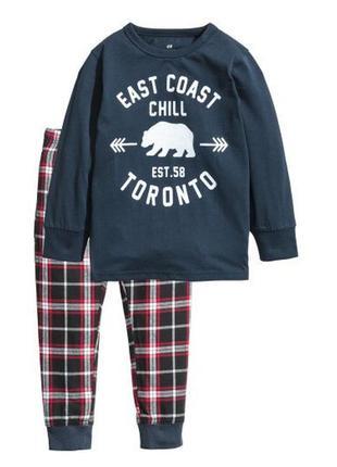 Пижама фланелевая east coast h&m