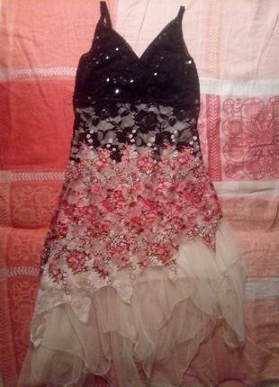 Вечернее/ выпускное платье с паетками