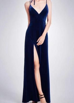 Шикарное вечернее бархарное платье