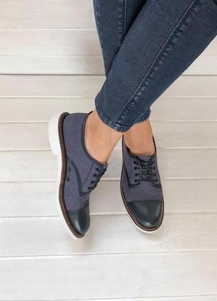 Женские туфли g-star из натуральной кожи №808