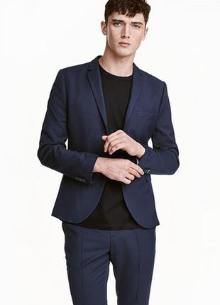 Оригинальный пиджак skinny fit от бренда h&m разм. 44