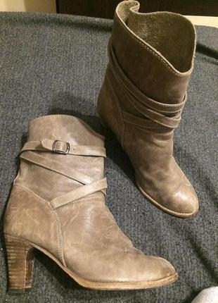Comptoir des cotonniers кожаные ботинки ботильоны полу сапожки